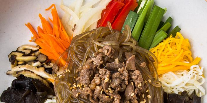 Korean Japchae, Goobne Chicken, Central, Hong Kong