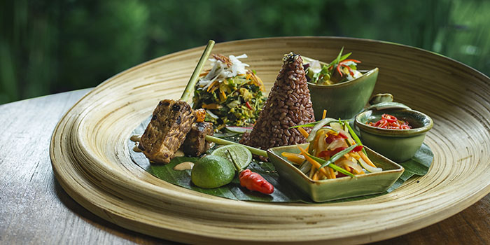 Food from Sakti Dining Room, Ubud, Bali