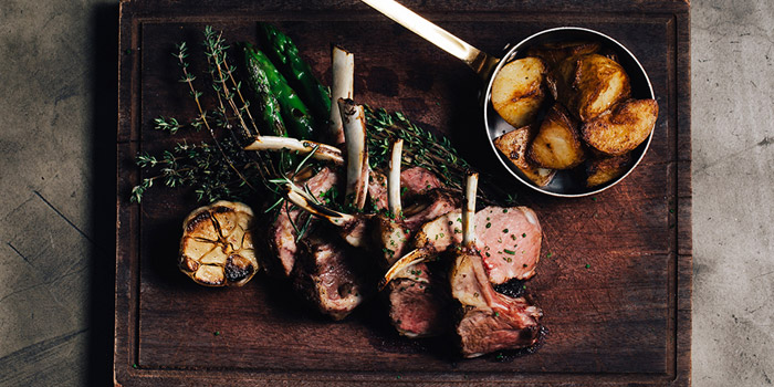 Lamb Full Rack, The Grill Room, Tsim Sha Tsui, Hong Kong