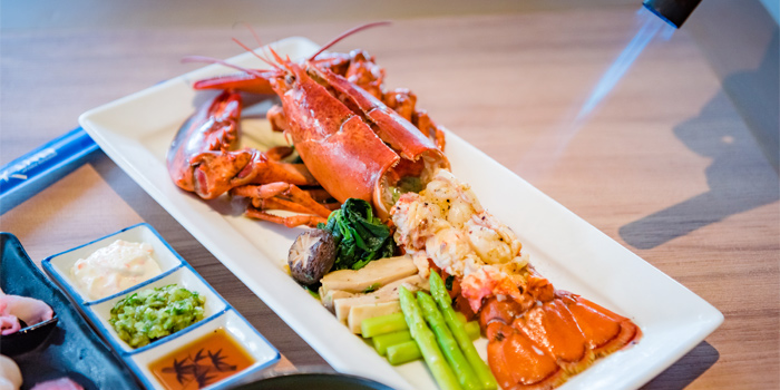 Lobster from Kiko Japanese Restaurant in Patong, Phuket, Thailand.
