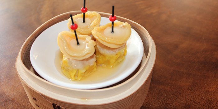 Abalone Siew Mai from Mister Wu at Nankin Row in Chinatown, Singapore