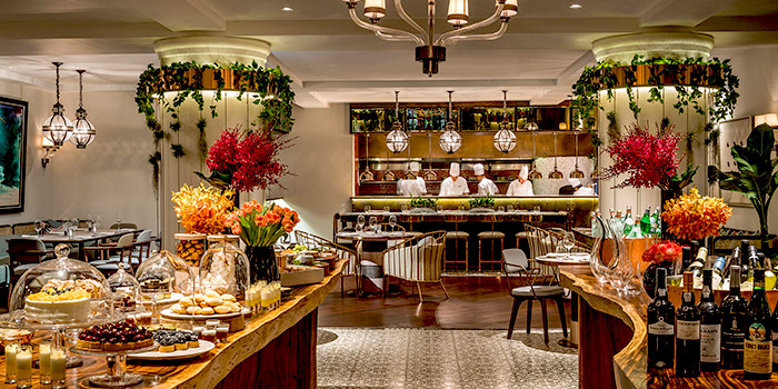 Modern Asian Brasserie from One-Ninety Restaurant at Four Seasons Hotel Singapore in Orchard Road, Singapore