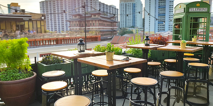 Rooftop Garden High Tables of Oxwell & Co on Ann Siang Road in Chinatown, Singapore