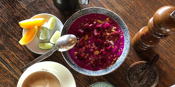 Food from The Bistrot in Seminyak, Bali