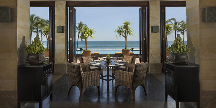Interior from The Restaurant at The Legian Bali