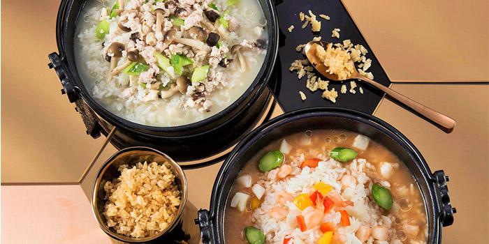 Rice in Wild Mushroom & Minced Pork Soup, Yum Cha, Central, Hong Kong