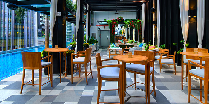 Interior of 1927 at SO Sofitel Singapore in Raffles Place, Singapore