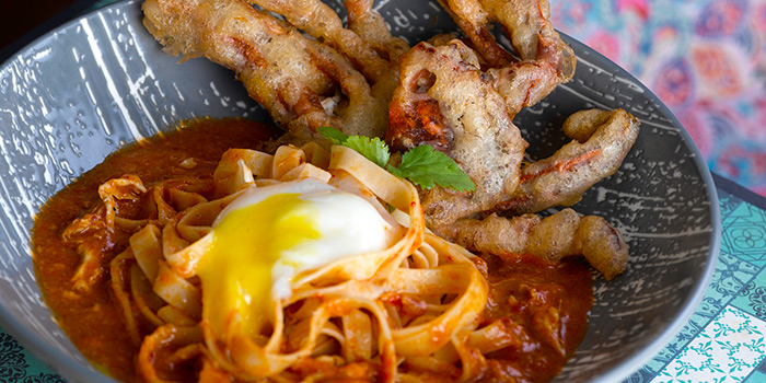 Chilli Crab Tagliatelle from Baba Chews Bar and Eatery in Hotel Indigo Singapore Katong in East Coast, Singapore