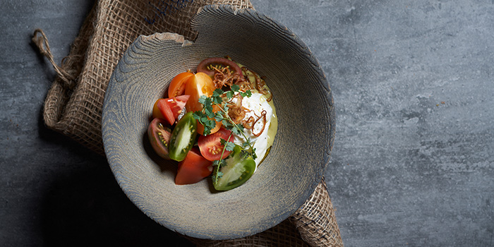Burrata from Cheek Bistro in Raffles Place, Singapore