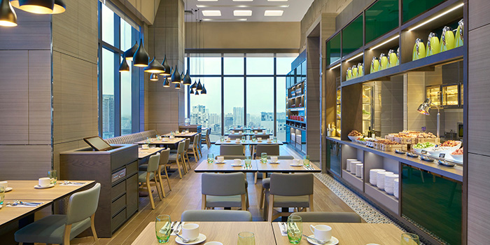 Interior of Sky22 at Courtyard by Marriott Singapore Novena in Novena, Singapore