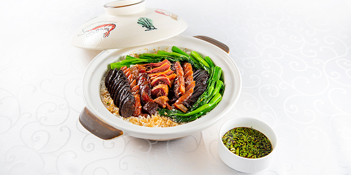 Luxury Claypot Rice with Waxed Meats from Famous Treasure in City Hall, Singapore