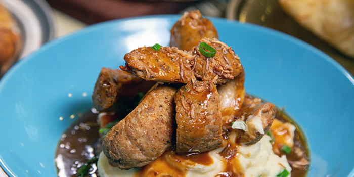 Bangers Mash from Fuego Bar & Kitchen at Alexandra Technopark Block B in West Coast, Singapore