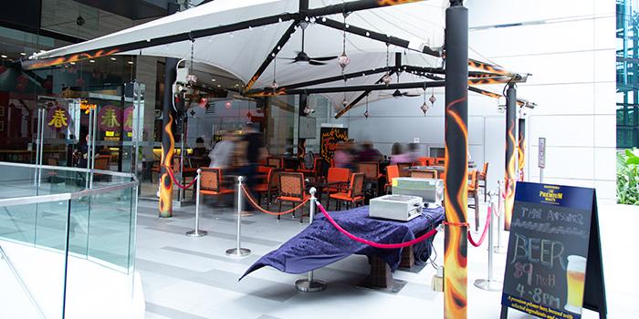 Exterior of Fuego Bar & Kitchen at Alexandra Technopark Block B in West Coast, Singapore