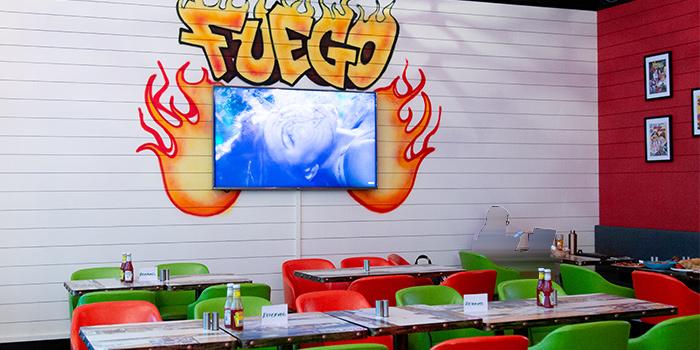 Interior of Fuego Bar & Kitchen at Alexandra Technopark Block B in West Coast, Singapore