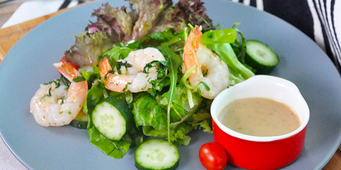 Freshwater Prawn Salad from The Grumpy Bear Cafe at Kebun Baru Community Centre in Ang Mo Kio, Singapore