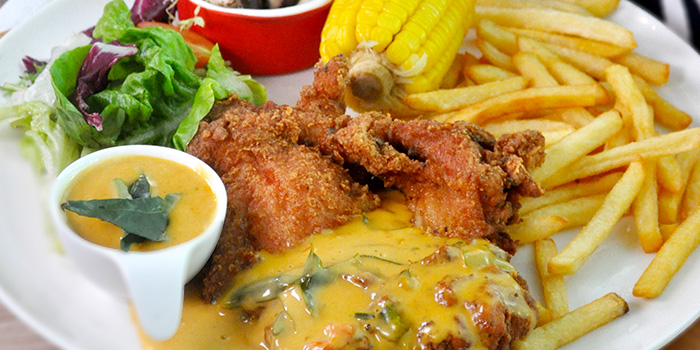 Salted Egg Chicken from The Grumpy Bear Cafe at Kebun Baru Community Centre in Ang Mo Kio, Singapore