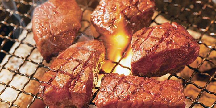 Fillet Cube Cut Steak from Gyu-Kaku (CHIJMES) in City Hall, Singapore