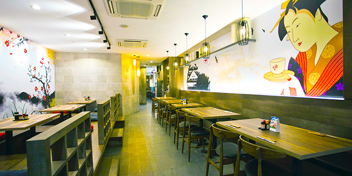 Interior of Hakata Japanese Restaurant at NEWest in West Coast, Singapore