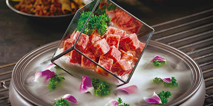 Premium Beef Cubes from Little Sheep Hot Pot in Fullerton, Singapore