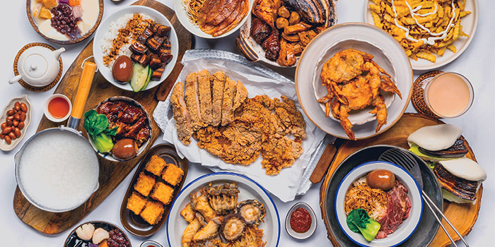 Food Spread from Lu Ding Ji at Viva Business Park in Bedok, Singapore