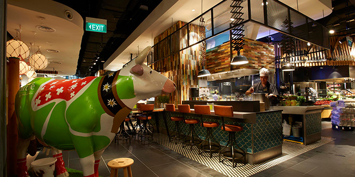 Interior of Marché Mövenpick (Suntec City) in Promenade, Singapore