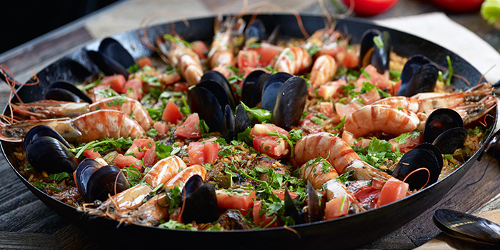 Paella from Marché Mövenpick (Suntec City) in Promenade, Singapore