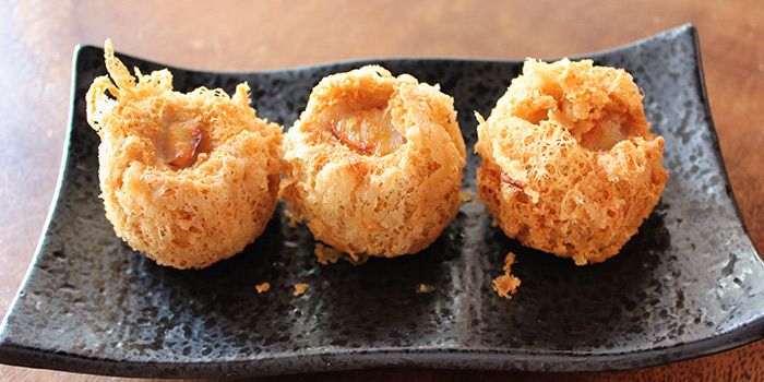 Golden Prawn Balls from Mister Wu at Nankin Row in Chinatown, Singapore