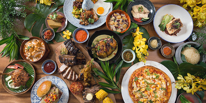 Group Shot from Native Kitchen at à Village Hotel at Sentosa in Sentosa, Singapore