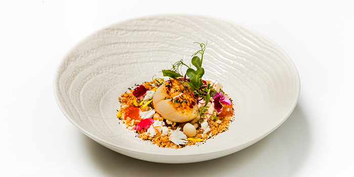 Herb Butter Cooked Hokkaido Scallop from Ocean Restaurant at Resorts World Sentosa in Sentosa, Singapore