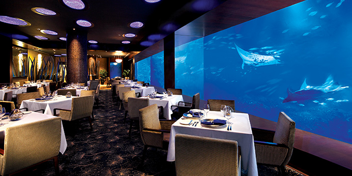 Interior of Ocean Restaurant at Resorts World Sentosa in Sentosa, Singapore
