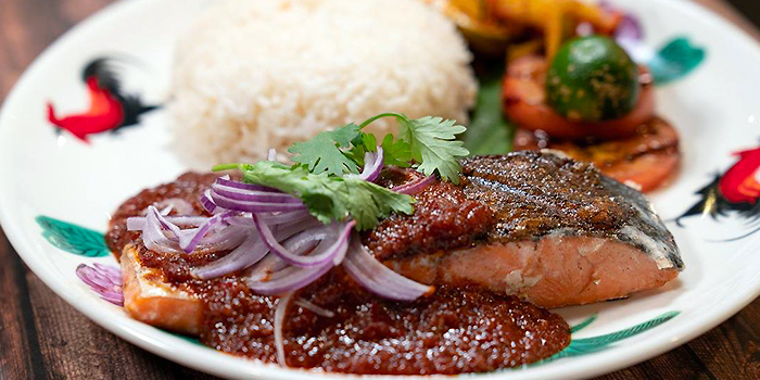 Grill Salmon from Old School Delights in Esplanade, Singapore