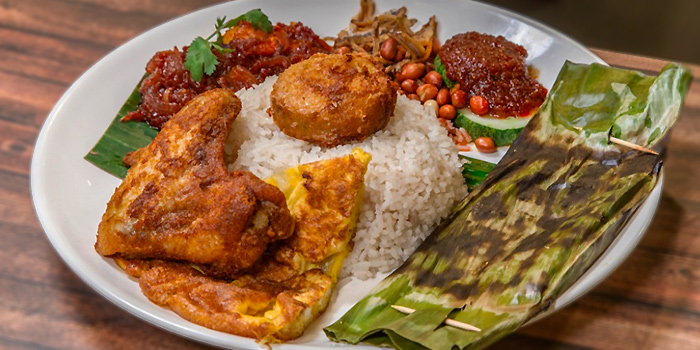 Signature Nasi Lemak from Old School Delights in Esplanade, Singapore