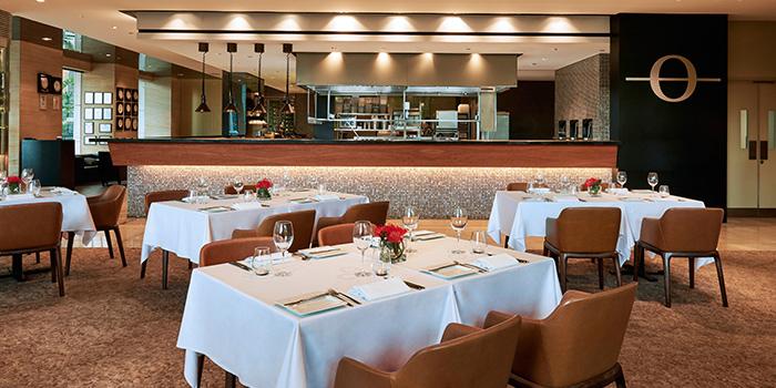 Interior of Osia Steak & Seafood Grill at Resorts World Sentosa in Sentosa, Singapore