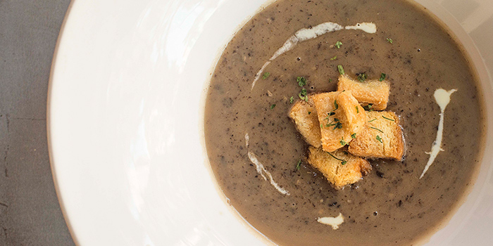 Truffle Mushroom Soup from Pince & Pints Restaurant and Bar in Duxton, Singapore