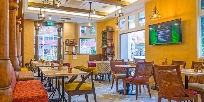 Interior of Podi & Poriyal in Little India, Singapore