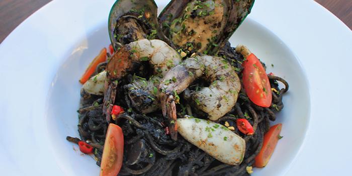 Squid Ink Spaghetti from Positano Risto in Bugis, Singapore