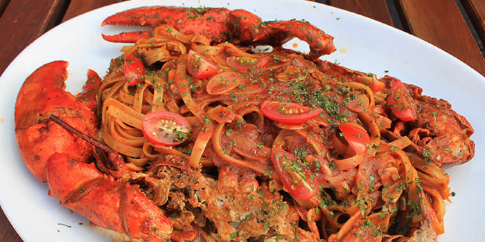 Whole Boston Lobster Fettuccine from Positano Risto in Bugis, Singapore