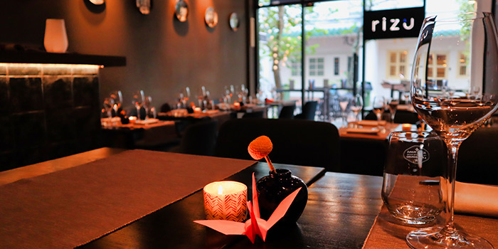 Interior at RIZU Modern Japanese Cuisine in Duxton, Singapore