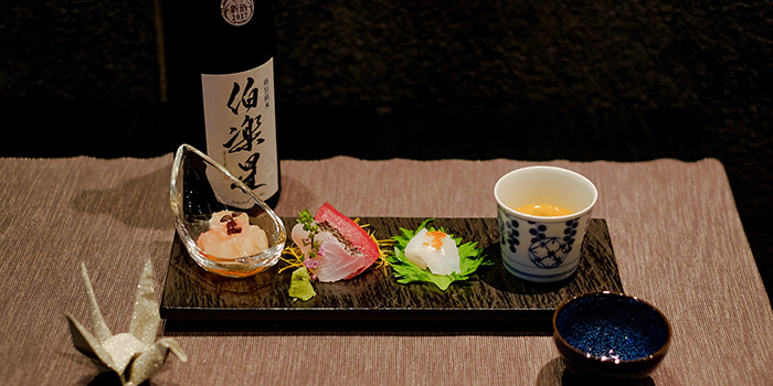 Sashimi and Lobster Bisque from RIZU Modern Japanese Cuisine in Duxton, Singapore