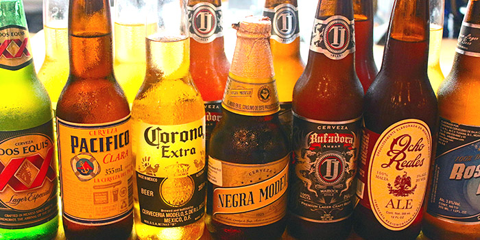 Beer from Señor Taco (CHIJMES) in City Hall, Singapore