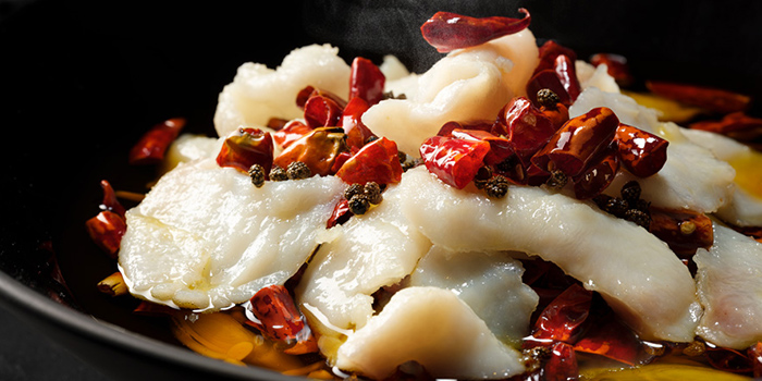 Boiled Sliced Fish with Spicy Chilli Oil from Si Chuan Dou Hua (Kitchener Road) in Little India, Singapore