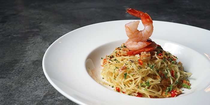 Shrimp Aglio Olio from Supply & Demand (Orchard Gateway) in Orchard Road