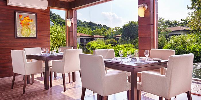 Interior of Tangerine at Resorts World Sentosa in Sentosa, Singapore