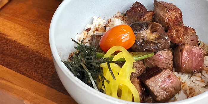 Black Angus Beef Tenderloin Donburi from Teppan Chef
