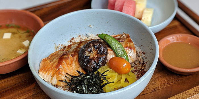 Miso Atlantic Salmon Donburi from Teppan Chef