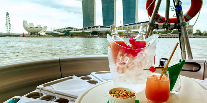 Singapore Sling from The Floating Donut Company in Marina Bay, Singapore