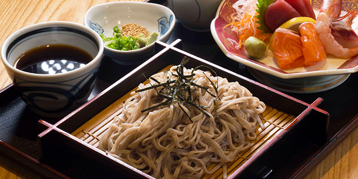 Soba with Sashimi from Tonkichi (Isetan Scotts) in Orchard, Singapore