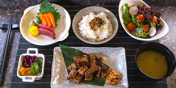 Gyuniku Lunch Set from TORIO Japanese Restaurant at Link Hotel in Tiong Bahru, Singapore