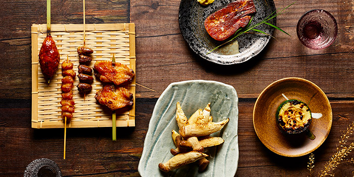 Grilled Items from Yujin Izakaya in River Valley, Singapore
