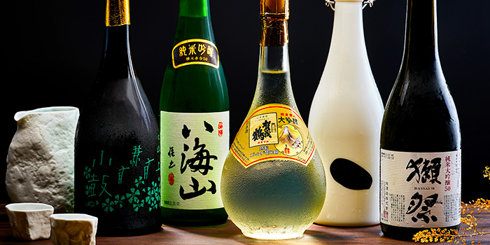 Sake Selection from Yujin Izakaya in River Valley, Singapore